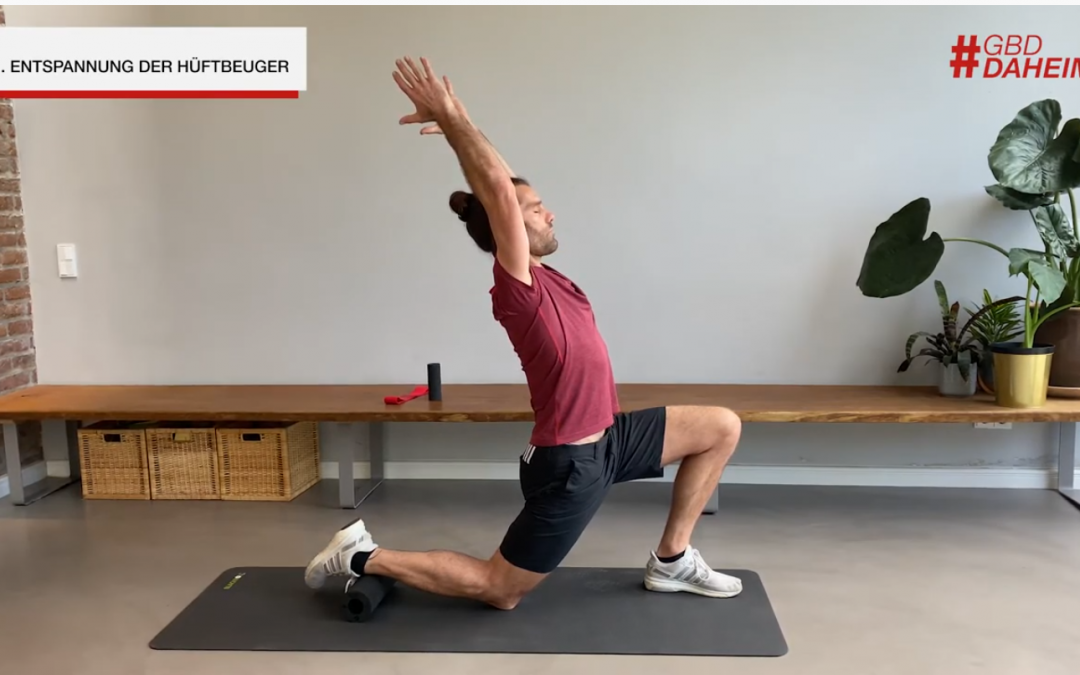 Home Office Recovery Workout mit Benjamin Kugel und Blackroll